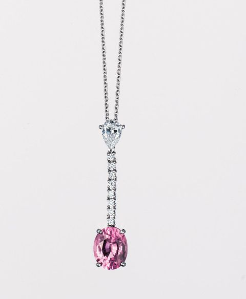 Jewellery, Fashion accessory, Magenta, Chain, Body jewelry, Violet, Earrings, Metal, Natural material, Silver,