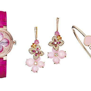 Product, Magenta, Pink, Earrings, Purple, Fashion accessory, Violet, Lavender, Watch, Fashion,