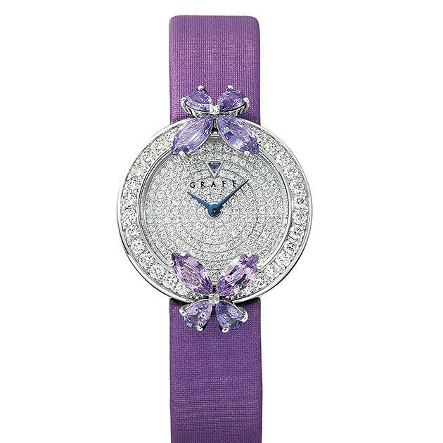 Violet, Purple, Analog watch, Fashion accessory, Amethyst, Jewellery, Gemstone, Crystal, Diamond, Silver,