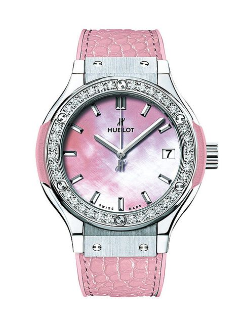 Product, Analog watch, Watch, Glass, Red, Pink, Magenta, Fashion accessory, Watch accessory, Font,