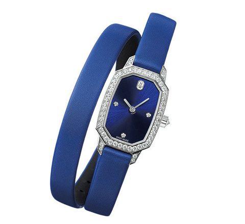 Analog watch, Watch, Blue, Watch accessory, Strap, Fashion accessory, Jewellery, Electric blue, Belt buckle, Buckle,