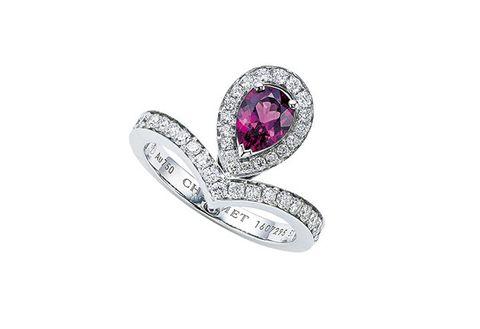 Jewellery, Gemstone, Fashion accessory, Ring, Diamond, Amethyst, Pre-engagement ring, Engagement ring, Body jewelry, Platinum,