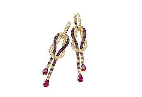 Jewellery, Fashion accessory, Amethyst, Body jewelry, Gemstone, Earrings, Ruby, Chain,