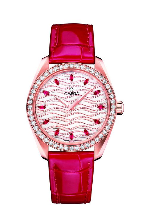 Watch, Analog watch, Pink, Watch accessory, Product, Strap, Fashion accessory, Magenta, Jewellery, Material property,