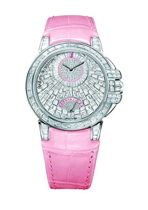 Watch, Analog watch, Pink, Strap, Watch accessory, Magenta, Fashion accessory, Material property, Jewellery, Hardware accessory,