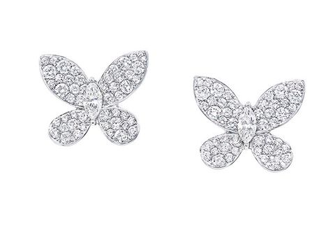 Fashion accessory, Silver, Jewellery, Leaf, Diamond, Metal, Brooch, Silver, Earrings, Butterfly,
