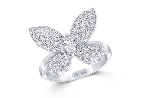 Fashion accessory, Jewellery, Diamond, Platinum, Silver, Silver, Ring, Leaf, Metal, Body jewelry,