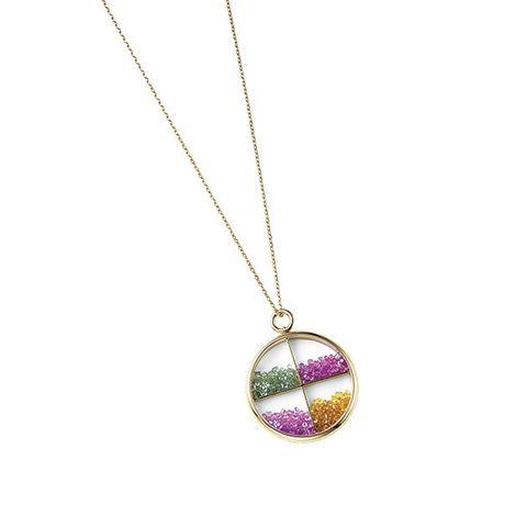 Pendant, Necklace, Locket, Jewellery, Fashion accessory, Body jewelry, Chain, Magenta, Ornament, Sphere,