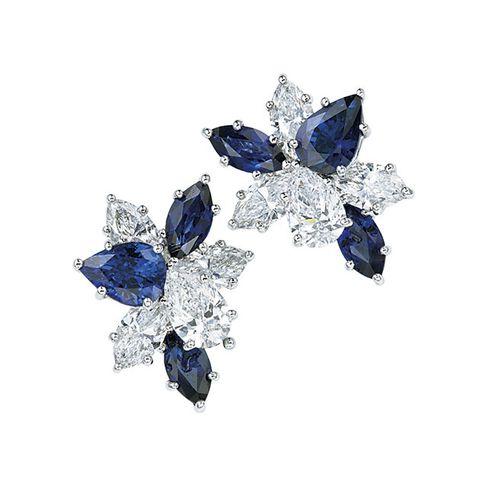 Sapphire, Cobalt blue, Blue, Jewellery, Gemstone, Fashion accessory, Body jewelry, Brooch, Diamond, Crystal,