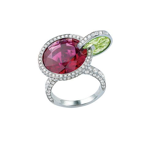 Jewellery, Ring, Fashion accessory, Gemstone, Engagement ring, Ruby, Pink, Pre-engagement ring, Platinum, Diamond,