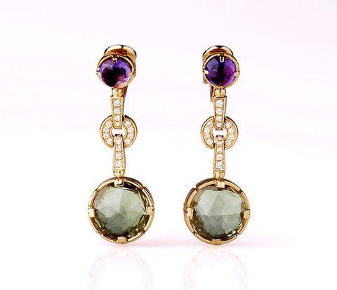 Jewellery, Amber, Purple, Magenta, Lavender, Circle, Violet, Body jewelry, Metal, Gemstone,
