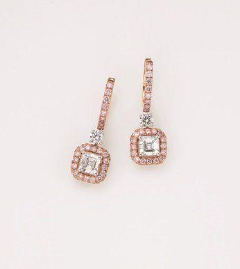 Jewellery, Earrings, Fashion accessory, Body jewelry, Diamond, Gemstone, Silver, Gold, Metal, Peach,