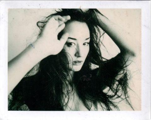 Hair, Face, Photograph, Eyebrow, Beauty, Long hair, Hairstyle, Black-and-white, Forehead, Lip,