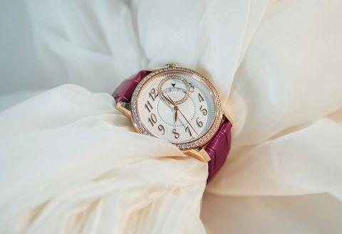 Fashion accessory, Pink, Jewellery, Wrist, Hand, Dress, Watch,