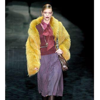 Textile, Outerwear, Coat, Fur clothing, Jacket, Boot, Fashion, Costume design, Fashion model, Animal product,