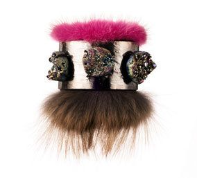 Hair accessory, Style, Headgear, Costume accessory, Natural material, Fashion, Magenta, Fur, Beige, Costume hat,