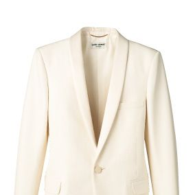 Clothing, Product, Collar, Sleeve, Textile, Coat, White, Outerwear, Pattern, Blazer,