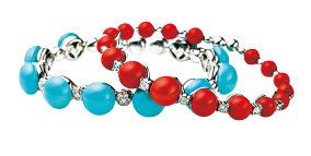 Blue, Red, Aqua, Colorfulness, Natural material, Circle, Turquoise, Teal, Body jewelry, Chemical compound,