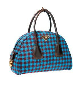 Blue, Product, Bag, Pattern, Textile, White, Fashion accessory, Style, Luggage and bags, Plaid,