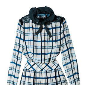 Product, Sleeve, Pattern, Textile, White, Collar, Style, Dress, Fashion, Black,