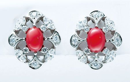 Red, Fashion accessory, Natural material, Silver, Gemstone, Jewelry making, Body jewelry, Circle, Craft, Creative arts,