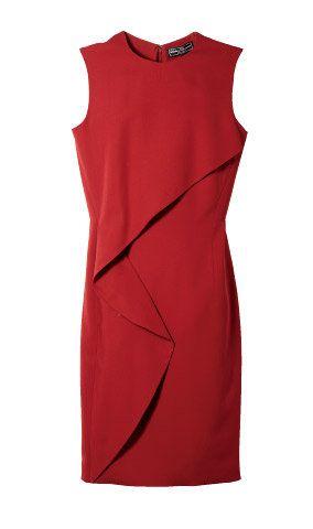Sleeve, Red, Textile, Dress, Collar, Orange, One-piece garment, Pattern, Maroon, Carmine,