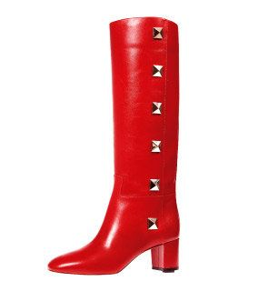 Boot, Red, Carmine, Maroon, Riding boot, Knee-high boot, Leather, Tan, Coquelicot, Rain boot,