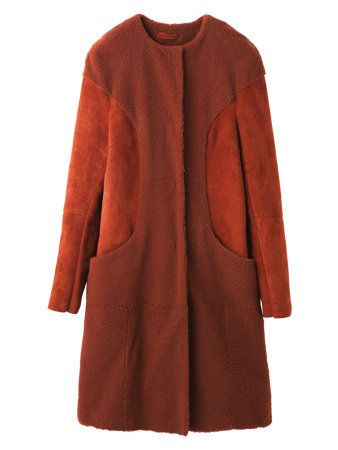 Clothing, Product, Brown, Coat, Sleeve, Textile, Red, Outerwear, Orange, Maroon,
