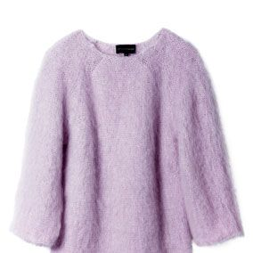 Product, Sleeve, Purple, Textile, Violet, Lavender, Outerwear, White, Sweater, Wool,