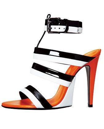 White, High heels, Orange, Sandal, Tan, Basic pump, Dancing shoe, Illustration, Fashion design, Strap,