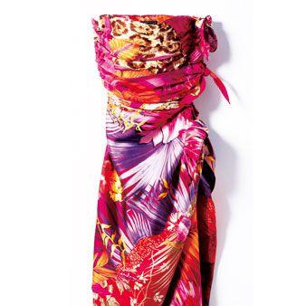 Textile, Magenta, Pink, Orange, Purple, Maroon, Violet, Satin, Silk, One-piece garment,