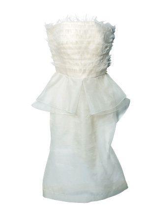 White, One-piece garment, Day dress, Fashion design, Silver, Satin, Gown, Embellishment, Pattern,