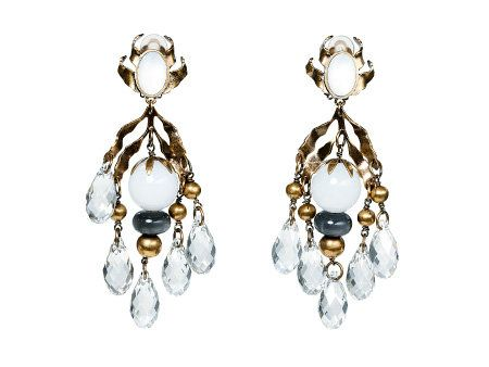 Product, Jewellery, Earrings, Fashion accessory, White, Amber, Natural material, Body jewelry, Fashion, Art,