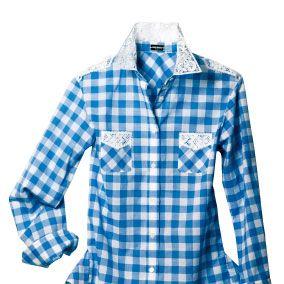 Clothing, Blue, Product, Dress shirt, Collar, Pattern, Sleeve, Textile, Shirt, White,