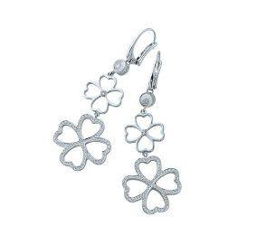 Product, Petal, White, Earrings, Jewellery, Art, Botany, Body jewelry, Flowering plant, Silver,