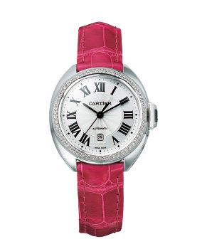 Product, Analog watch, Watch, Magenta, Red, Glass, Pink, Watch accessory, Fashion accessory, Font,