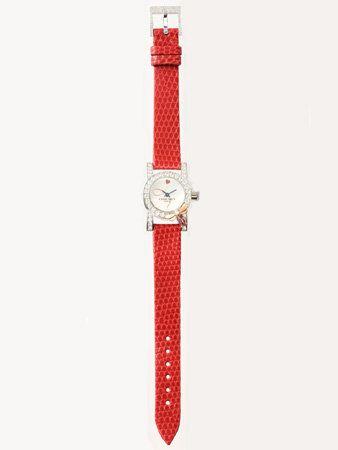 Red, Fashion accessory, Metal, Analog watch, Peach, Coquelicot, Silver, Steel, Nickel, Platinum,