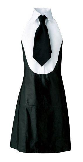 Sleeve, Dress, Collar, White, Formal wear, Style, One-piece garment, Fashion, Neck, Black,