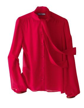 Product, Sleeve, Textile, Red, Magenta, Outerwear, Collar, Coat, Maroon, Carmine,