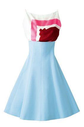Blue, White, Carmine, Azure, Electric blue, Aqua, Day dress, One-piece garment, Costume accessory, Fashion design,