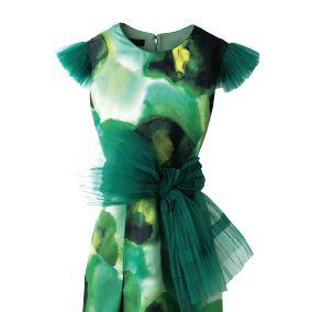 Green, Sleeve, Textile, Collar, Teal, Aqua, Dress, Turquoise, One-piece garment, Costume design,