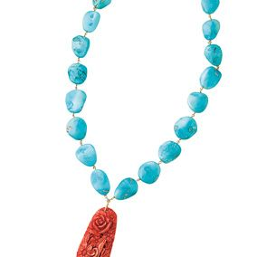 Jewellery, Aqua, Body jewelry, Fashion accessory, Teal, Carmine, Turquoise, Natural material, Creative arts, Craft,