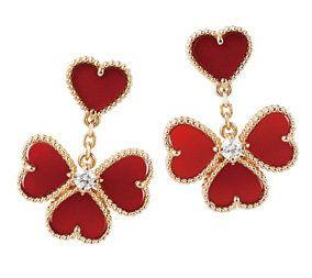 Red, Heart, Pattern, Fashion accessory, Love, Body jewelry, Jewellery, Pollinator, Earrings, Art,