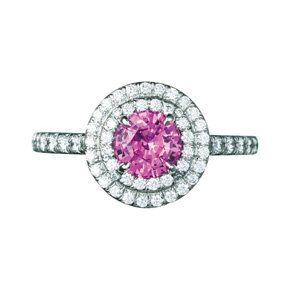Jewellery, Pink, Magenta, Body jewelry, Gemstone, Mineral, Diamond, Circle, Silver, Platinum,
