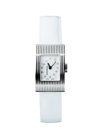 Product, Font, Analog watch, Technology, Metal, Rectangle, Watch accessory, Brand, Nickel, Watch,