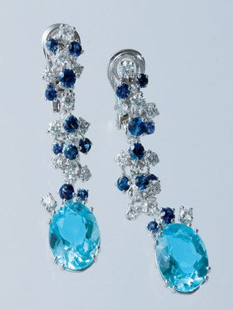 Blue, Aqua, Glass, Natural material, Fashion accessory, Earrings, Teal, Electric blue, Gemstone, Body jewelry,