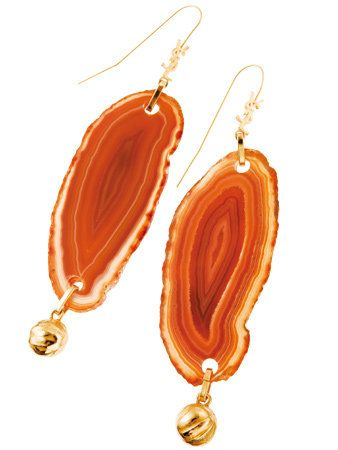 Product, Brown, Earrings, Red, Orange, Photograph, Fashion accessory, Amber, Natural material, Body jewelry,