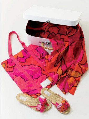 Red, Pink, Magenta, Carmine, Purple, Maroon, Fashion design, Costume accessory, Embellishment, Sandal,