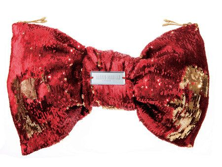 Red, Collar, Pattern, Carmine, Costume accessory, Maroon, Coquelicot, Undergarment, Bow tie, Knot,