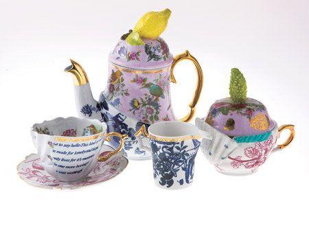 Serveware, Drinkware, Dishware, Porcelain, Cup, Tableware, Teapot, Ceramic, Teacup, Purple,